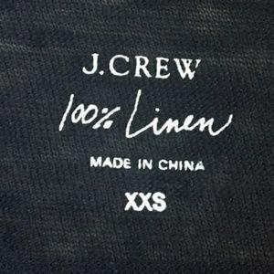 J. Crew Tops - J. Crew Linen Engineered-Stripe Tee Shirt Blue XXS